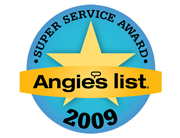 Angie's List Super Service Award 2009