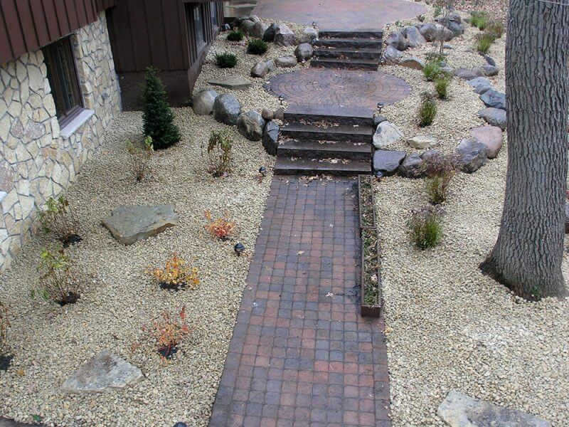 North Oaks Paver Patio Sidewalk