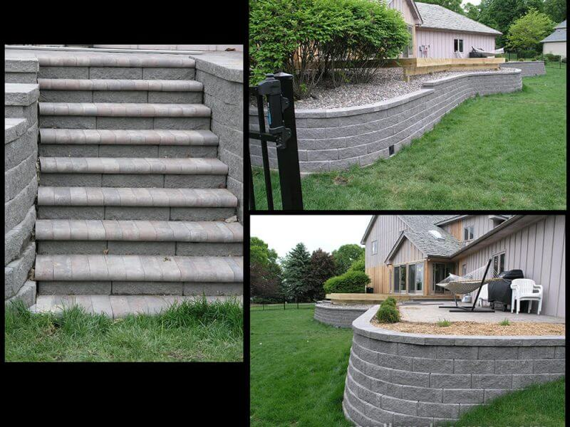 Plymouth Retaining Wall Steps