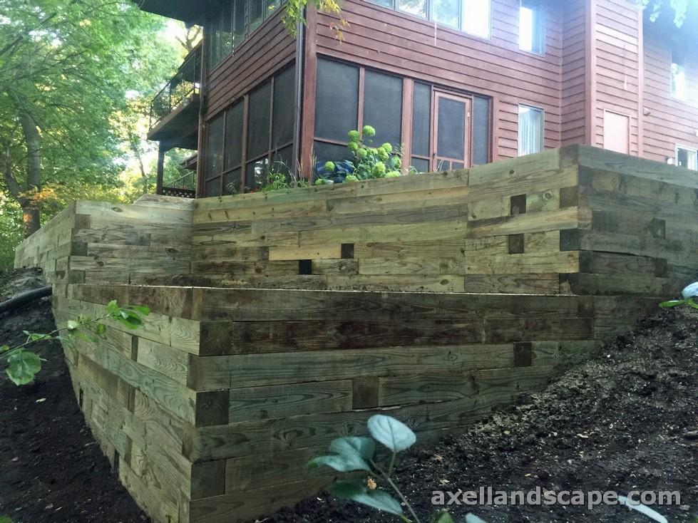 Minnetonka Retaining Wall from Timbers
